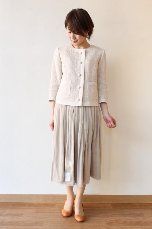 Yangany(ヤンガニー)ファンシートリミングジャケット&チュールサテンリバーシブルスカート~☆ 画像