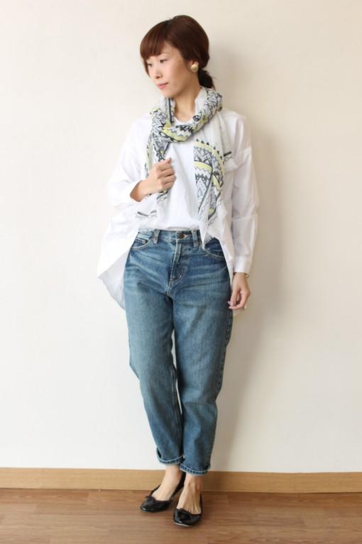 Le Melange(ル・メランジュ)コットンタイプライターAラインスキッパーシャツ~☆ 画像