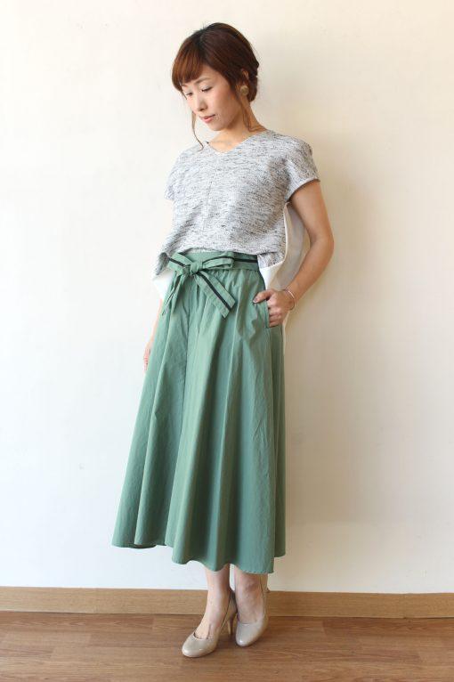 Espeyrac(エスペラック)ウエストリボンフレアースカート~◎ 画像