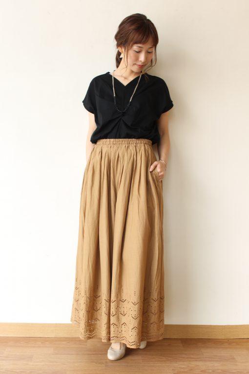 Le Melange (ル・メランジュ)裾カットワークレースガウチョパンツ~☆ 画像
