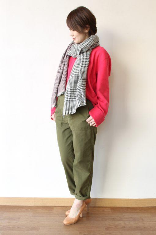 MACPHEE(マカフィー)ラムカシVネック&anana(アナナ)ハイウエストスカート 画像
