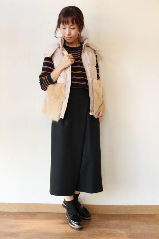 anana(アナナ)ファーポケット付きダウンベスト☆ 画像