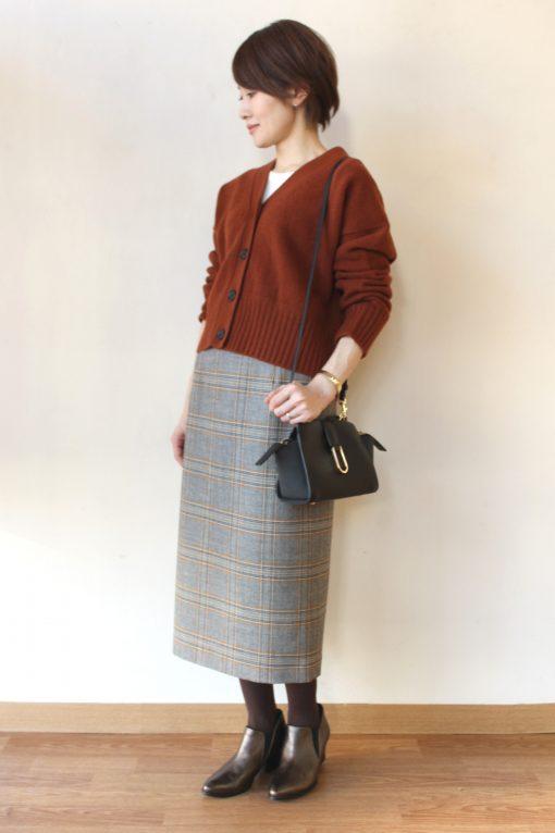 Yangany(ヤンガニー)ウールグレンチェックタイトスカート~☆ 画像