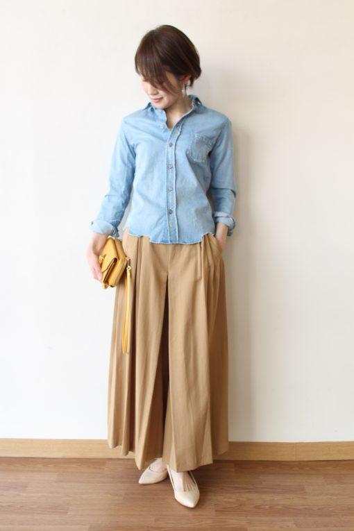 MARIED'OR(マリードール)ヴィンテージ風ダンガリーシャツ&ロングフレアガウチョパンツ ~♪ 画像