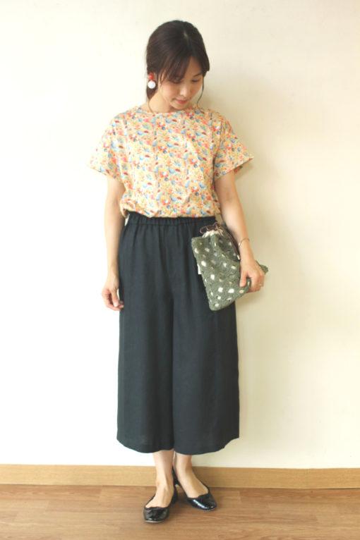 シャンブルドゥシャーム(chambre de charme) リバティープリントTシャツ~☆ 画像