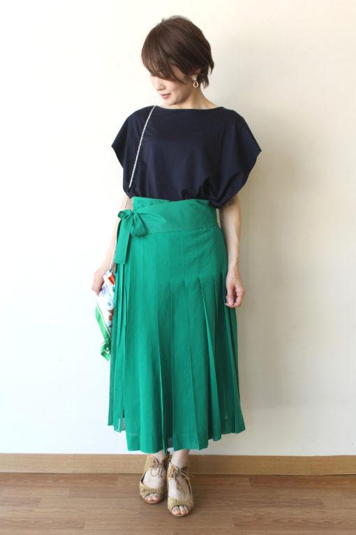 20日   MACPHEE(マカフィー)  コットンボイル ラッププリーツスカート☆ 画像
