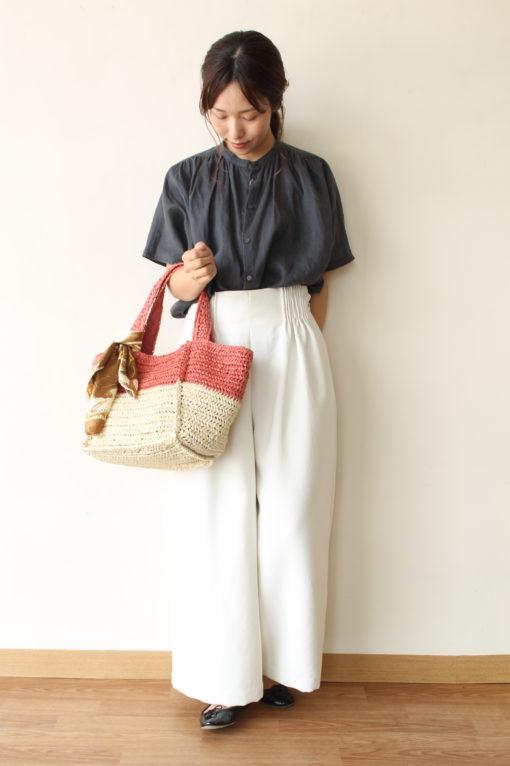 シャンブル・ドゥ・シャーム(chambre de charme)イキ(iki)ラミースタンドカラーシャツ☆ 画像