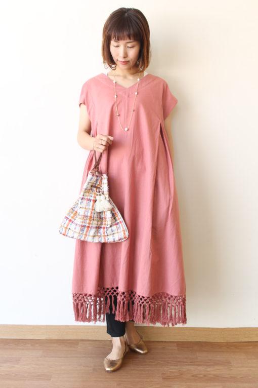 トラッゾドンナ(TORRAZZO DONNA)裾フリンジワンピース~◎ 画像