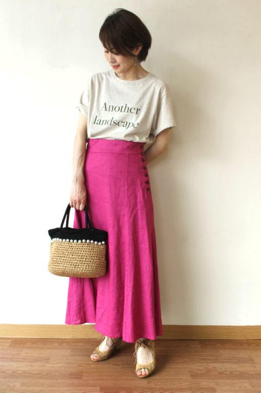 マリードール(MARIED'OR)サイドボタンリネンロングスカート~♪ 画像