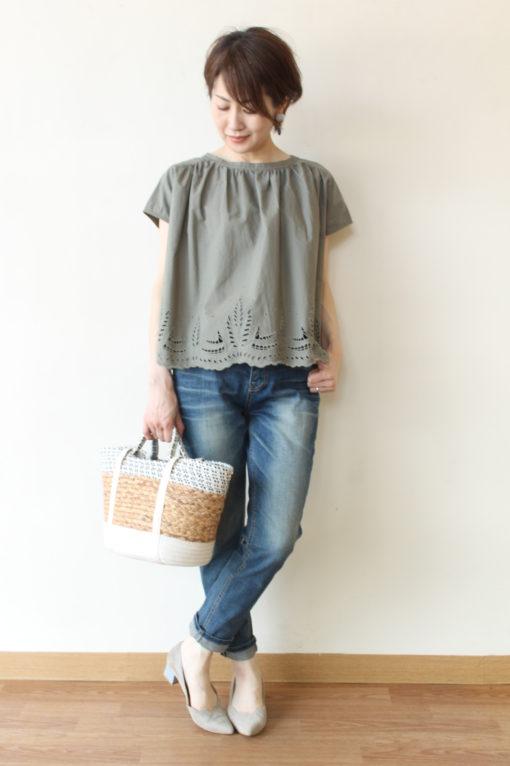 エスペラック(Espeyrac)裾カットワーク刺繍ブラウス~◎ 画像