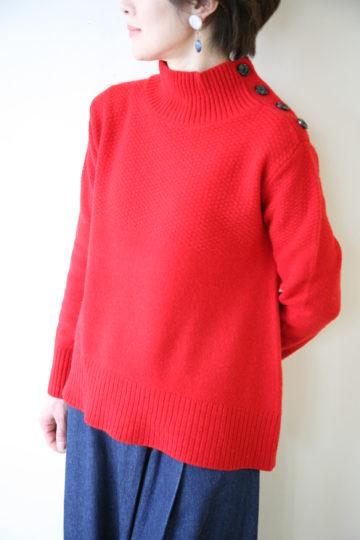 ソーノ(SONO)エアリーウール鹿の子編みハイネックプルオーバーにお問わせの服部さーん! 画像