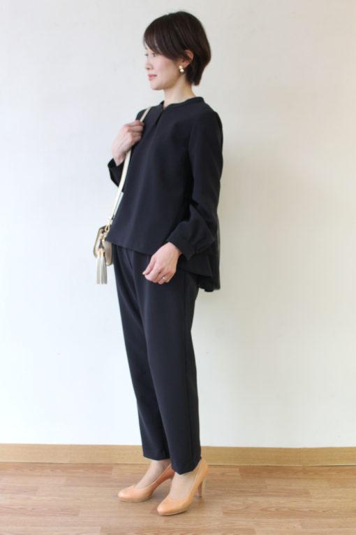 ソーノ(SONO)「ペプラムチュールブラウス+マルチパンツ」入卒用セットアップ~♪ 画像