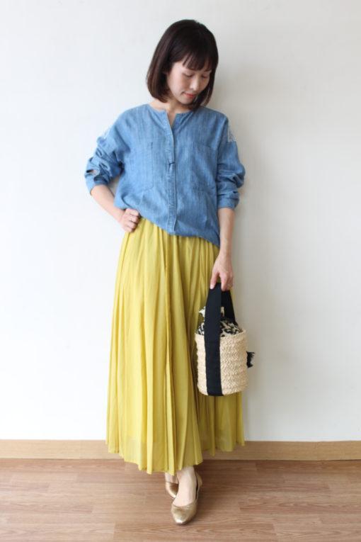 ノンブルアンペール(NOMBRE IMPAIR)テンセルデニム刺繍シャツ~☆ 画像