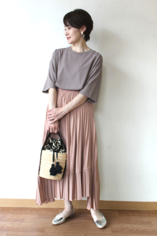 ディニテコリエ(Dignite collier)アシンメトリープリーツスカート~☆ 画像