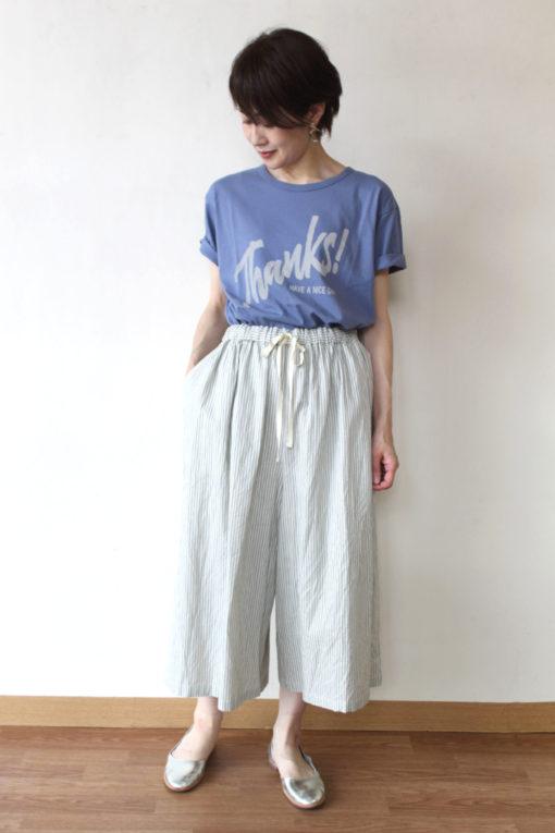 ル・メランジュ(Le Melange)サンクスロゴプリントTシャツ~☆ 画像