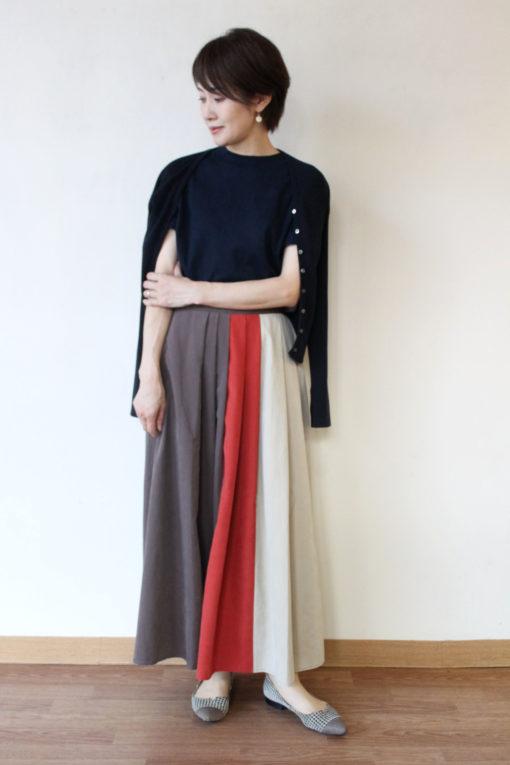 ロージー(ROSIEE)スエード風配色スカート~☆ 画像