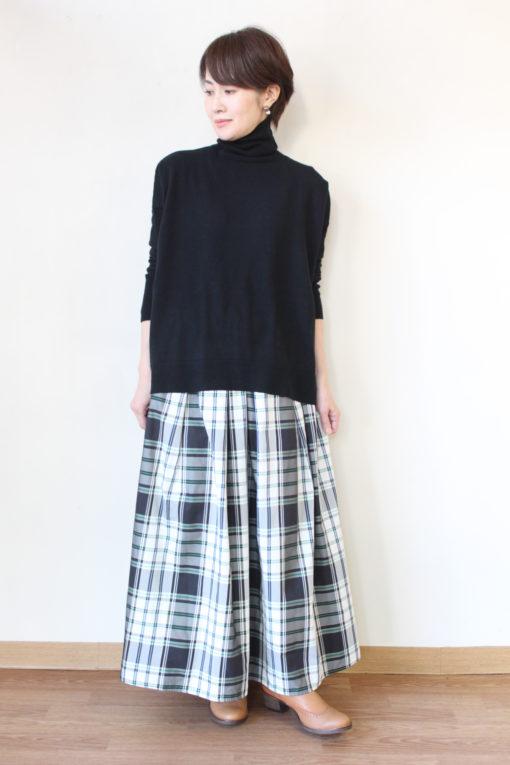 マクルール(ma couleur)オリジナルチェックロングスカート&マリードール(MARIED'OR)タートルネックセーター~☆ 画像