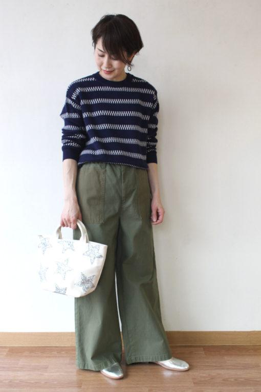シャンブルドゥシャーム(chambre de charme)コットンカシミヤマリンボーダーセーター~⛵ 画像