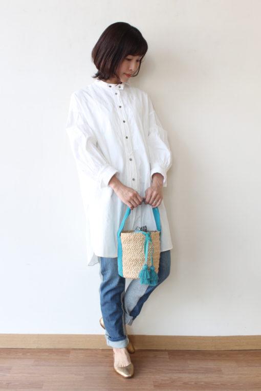 ノンブルアンペール(NOMBRE IMPAIR)ペイズリー刺繍シャツワンピース~♪ 画像
