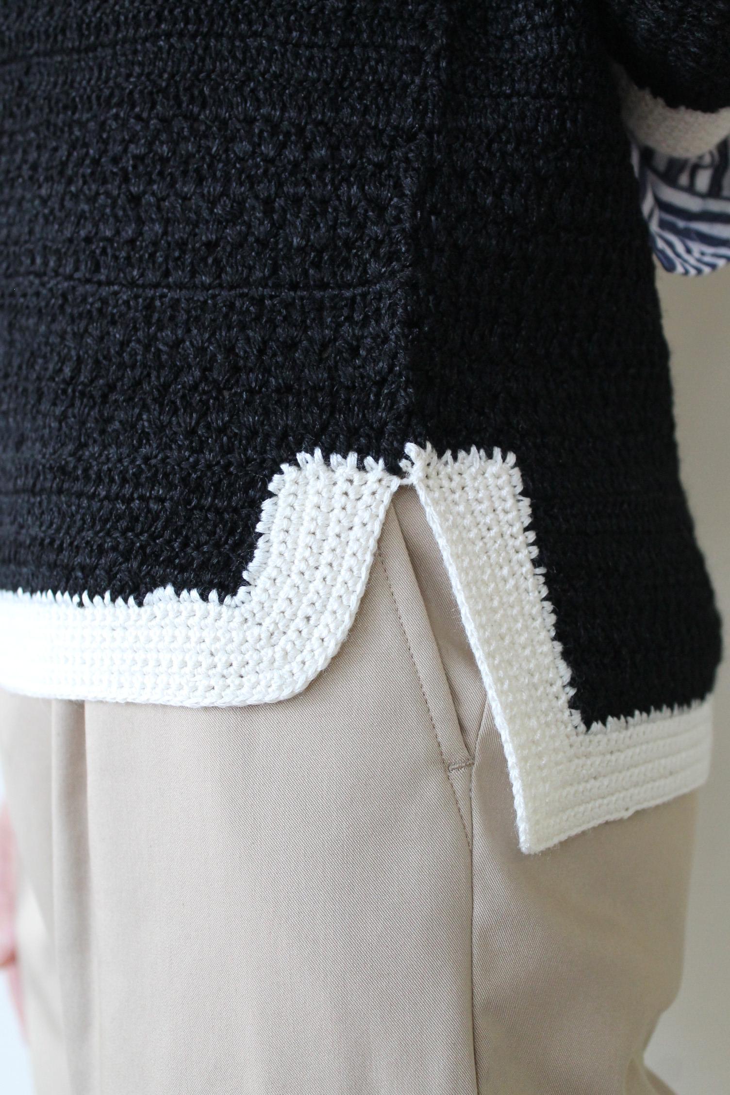 BALLSEY(ボールジィ)トリミングセーター