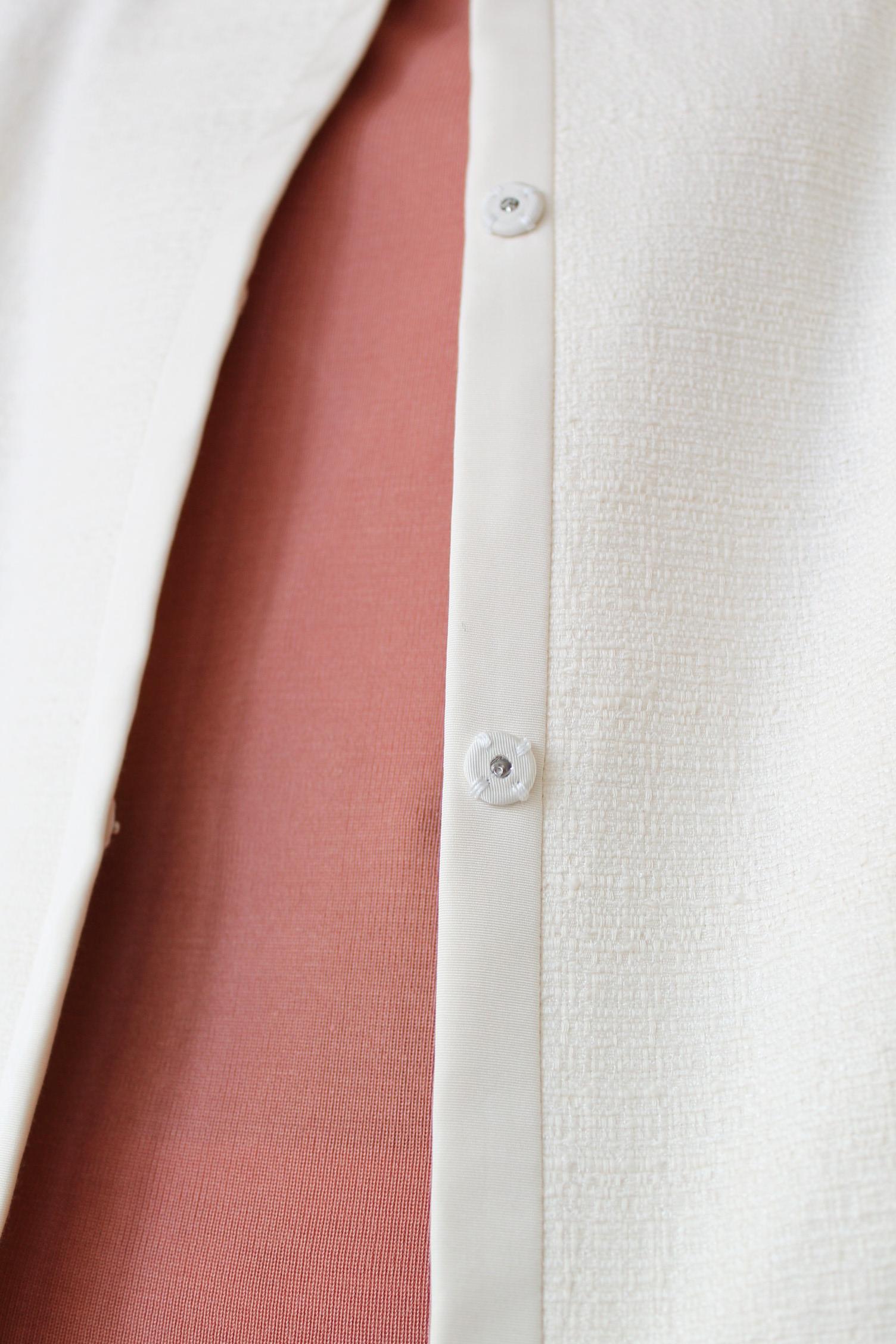 BALLSEY(ボールジィ)スラブブッチャークルージャケット&スカート/アイボリー