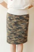 Le Melange(ル・メランジュ)迷彩スウェットスカート