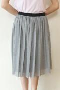 Yangany(ヤンガニー)綿ストレッチサラチュールギャザースカート