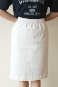 ESPEYRAC(エスペラック)シャンブレーツイルストレッチスカート/ホワイト