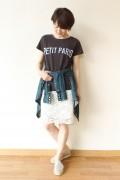 Espeyrac(エスペラック)ロゴプリントTシャツ/チャコールグレー