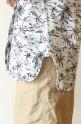 MACPHEE(マカフィー)ノーカラープリントシャツ/ホワイト
