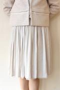 Yangany(ヤンガニー)マザーニーズリバーシブルスカート(セットアップ対応)・アイボリー/入学式 ママ スーツ