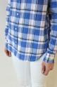 MACPHEE(マカフィー)チェックワイヤーシャツ/ブルー