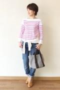 【宮内さまご予約分】MACPHEE(マカフィー)<br />TOMORROWLAND (トゥモローランド) バスクシャツ/ピンク