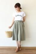 anana(アナナ)ロゴロープTシャツ/シロ