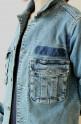 Le Melange(ル・メランジュ)ストレッチデニムヴィンテージジャケット/ブルー