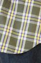 Le Melange(ル・メランジュ)WAYタイプライター2WAYチェックシャツ/イエロー×カーキ
