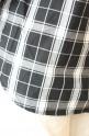 Le Melange(ル・メランジュ)WAYタイプライター2WAYチェックシャツ/ブラック