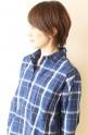 Le Melange(ル・メランジュ)WAYタイプライター2WAYチェックシャツ/ブルー
