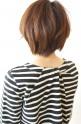 SONO(ソーノ)サイド裾切り替えボーダーカットソー/ネイビー×アイボリー