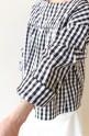 SONO(ソーノ)ボリュームスリーブギンガムチェックシャツ/ブラック