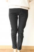 MARIED'OR(マリードール)綿ストレッチ裾サイドスリットパンツ/ブラック