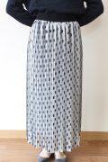 マリードール(MARIED'OR)ジョーゼットドットプリントスカート/白×黒ドット