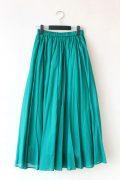 ディニテコリエ(Dignite collier)コットンギャザースカート/ライトグリーン