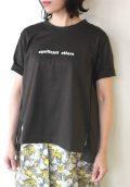 ディニテコリエ(Dignite Collier)後肩タックプリントTシャツ/ブラウン