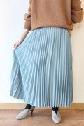 ソーノ(SONO)シャーベットツイルプリーツスカート/ライトブルー