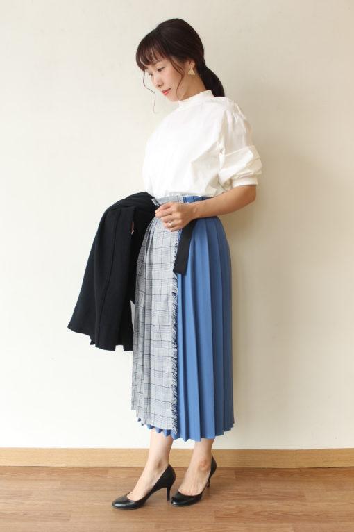 ディニテコリエ(Dignite collier)切替プリーツラップスカート~◎ 画像