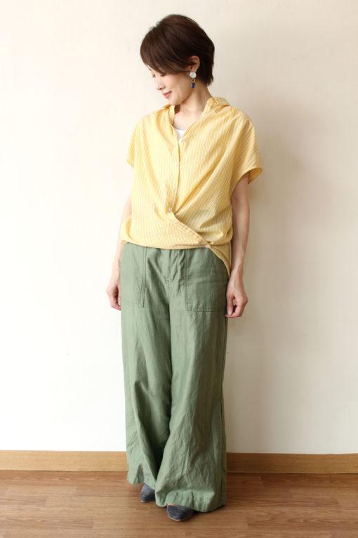 パシオーネ(PASSIONE)2Wayフレンチスリーブシャツ☆ 画像