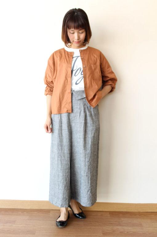 ノンブルアンペール(NOMBRE IMPAIR)2WAYノーカラーシャツジャケット~◎ 画像