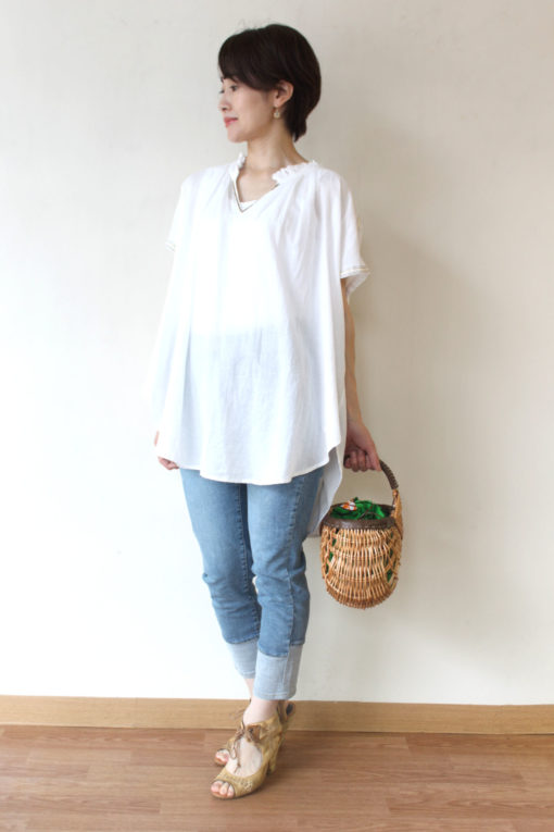 ル・メランジュ(Le Melange)インド綿ビーズ刺繍ブラウス~☆ 画像