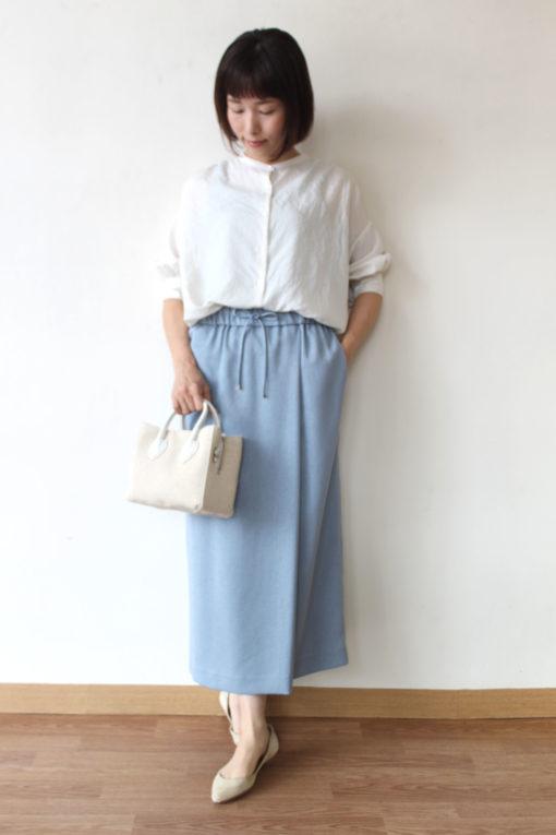 ヤンガニー (Yangany)フェイクリネンラップ風ロングタイトスカート~☆ 画像